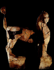 Boğazköy Sfenksli Kapının yontusu