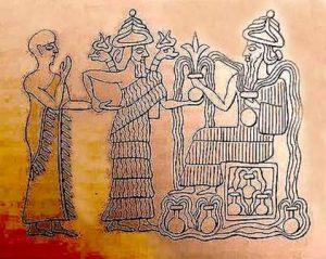 Resim 11: Ningişzada, Neo-Sümer silindir mühür detayı