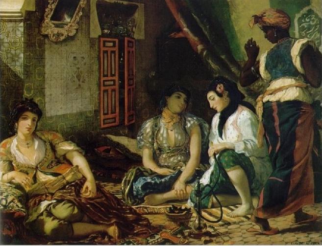 Eugene Delacroix, Algerian Women in Their Aparments (Cezayirli Kadınlar), 1834