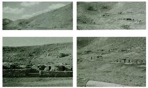 (Üstte sağda ve solda) Kayseri'nin doğusunda Sarız ve Pınarbaşı (Zamantı) arasındaki 1500m yükseklikte yer alan çoban yayla yerleşmeleri. (Altta) Benzer yapılar yüksek Kars platosunda yaygındır. Kuru duvarlı ve penceresiz inşa edilen bu taş yapılar, gece sürüler için barınak işlevi görür. Arkeolojik bağlamda bu tür yapıların kalıntıları dağınık köy evleriyle karşılaştırılabilir.