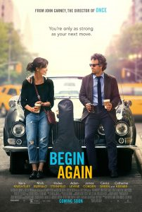 Begin Again (Yeniden Başlamak) film afişi.