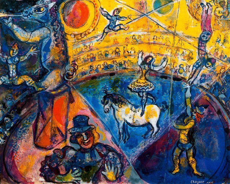 Chagall'ın eserlerine baktığımızda Dufy'den etkilendiğini düşünebiliriz.