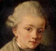 Johannes Chrysostomus Wolfgangus Theophillus Amadeus Mozart – Doğduğunda ona bu ismi verirler.