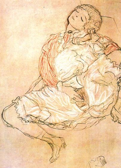 "Gustav Klimt ""Mulher Sentada"""