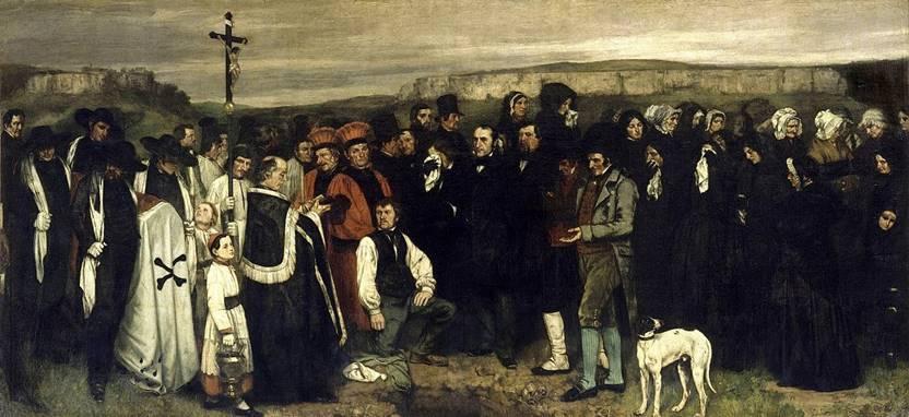 Gustave Courbet-Ornans'ta Cenaze (1849-1850)
