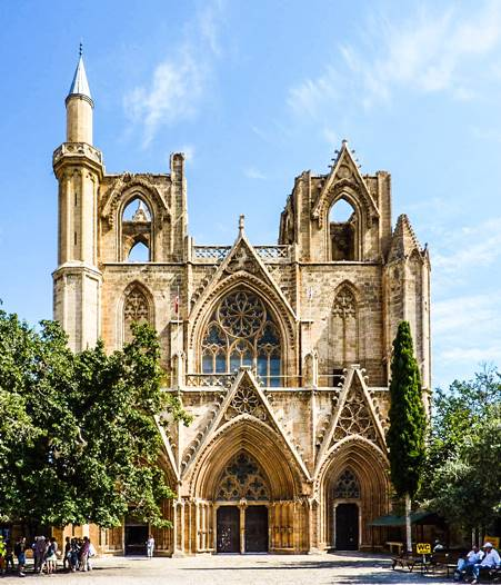 St. Nicholas Katedrali (Lala Mustafa Paşa Camii), Gazimağusa-Sağda (1298-c.1400)