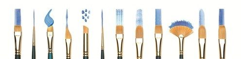 Farklı teknikler için geliştirilen fırçalar