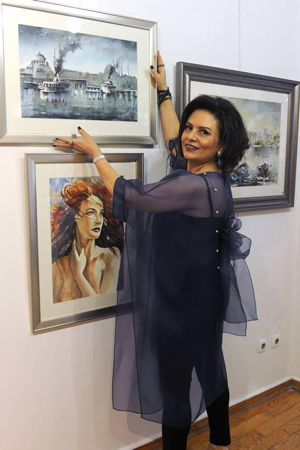 Ebru Kalgay Resim Sergisi Nişantaşı Niş Art Sanat Galerisi'nde.
