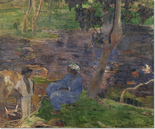 """Gauguin """"On the Shore of the Lake"""" (1887)"""
