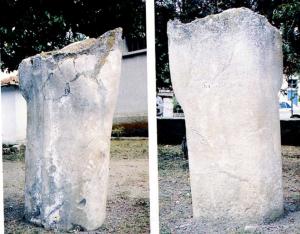 Başı olmayan taş heykel
