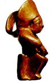 Oturan tanrıça heykelciği