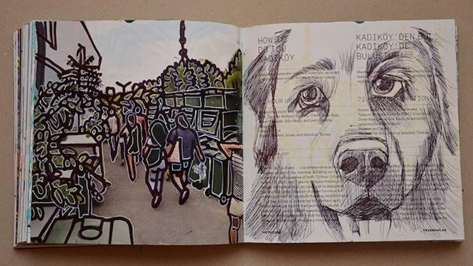 Faruk Kutlu – Tasarım bienali kataloğundan dönüştürülen kitap (Ebat19,5x19cm-325 adet resim)