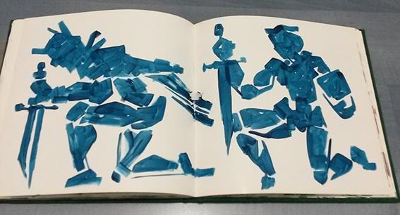Faruk Kutlu- Maket kitap üzerine akrilik (23x20-50 adet resim)