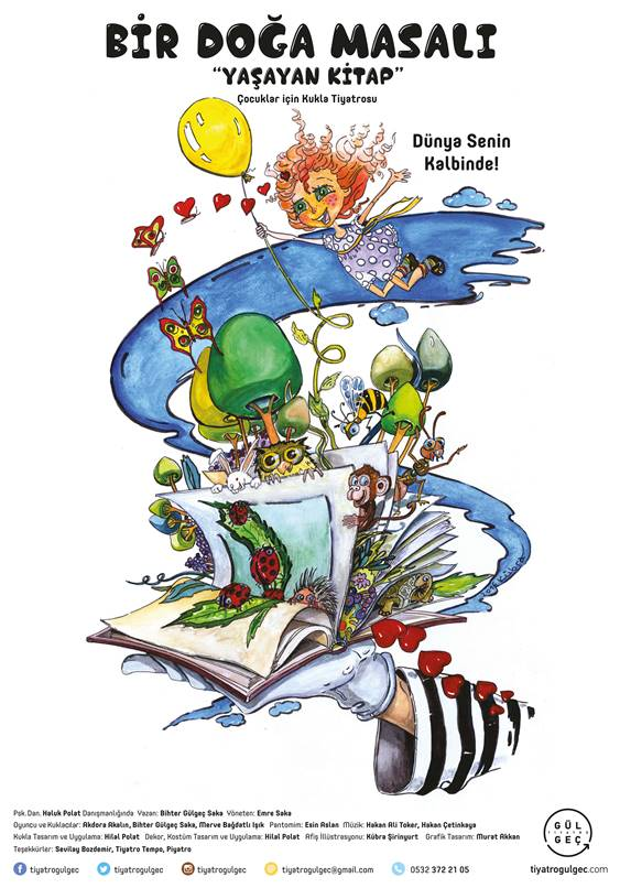 Bir Doğa Masalı Yaşayan Kitap 18 Şubat Cumartesi 13.00 ve 15.00'da Caddebostan Kültür Merkezi'nde